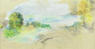 Bord de Mer Mediterraneen by Pierre Auguste Renoir