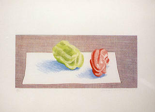 Two Peppers by David Hockney
