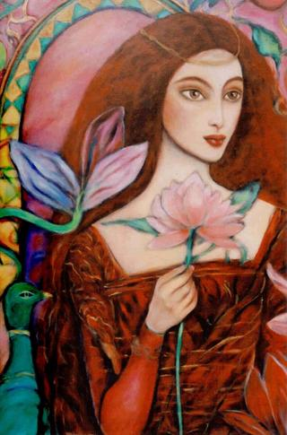 Red Madonna by Christa Oglan