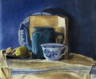 Still Life with a Blue Teapot by Rosario de Mattos