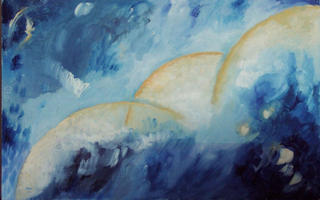 Abstract Moons 2 by Rosario de Mattos