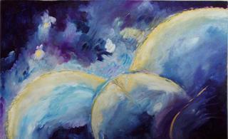 Abstract Moons 1 by Rosario de Mattos