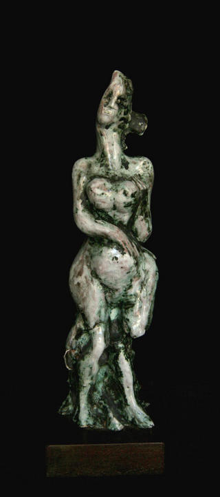 Femenine Figure in Ceramic by Silvestre Peciar