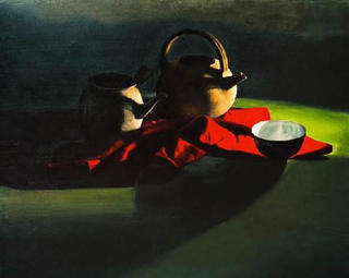 Rice Bowl and Red Cloth by Le Vuong