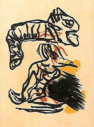 Jump Over the Head by Karel Appel