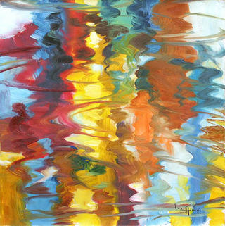 Reflections in the Water by U Lun Gywe