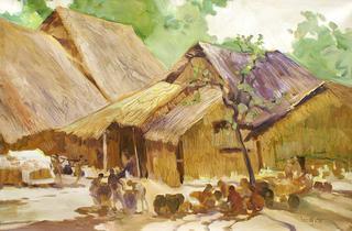 Rural Village by U Lun Gywe