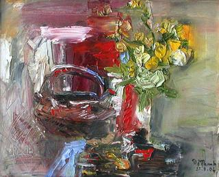 Flowers and Clay Pot by Van Duong Thanh