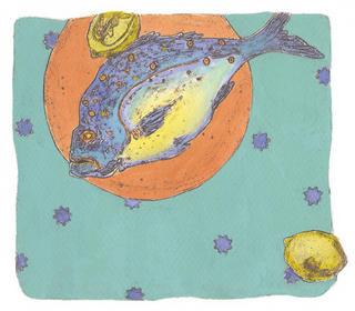 Fishdinner I by Lyn Mazzilli