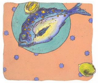 Fishdinner II by Lyn Mazzilli