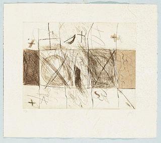 Quadrats i Grafismes by Antoni Tàpies
