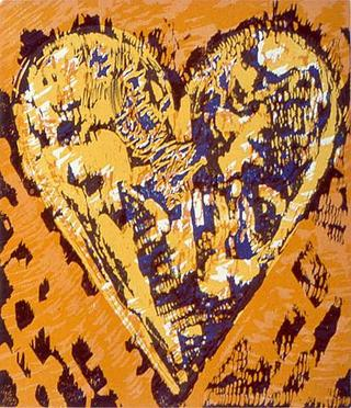 Woodcut Heart by Jim Dine