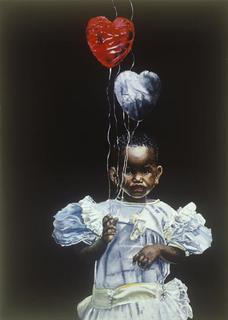 Girl with Ballons by Hilary Dunne