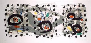 Solar Bird, Lunar Bird, Sparks by Joan Miró