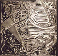 Swan Engraving Square II by Frank Stella