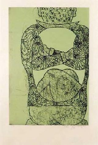 Homage to Tapies' X by Jiri Georg Dokoupil