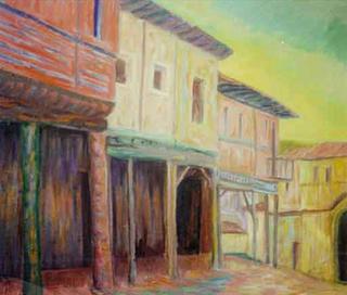 Soportales de un Puebo, Castilla by Paulino Lorenzo Tardón
