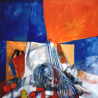 Blue Orange by Susana Marenco