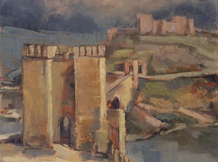 """Alcántara Bridge - Toledo by Enrique López Suárez """"Elosu"""""""