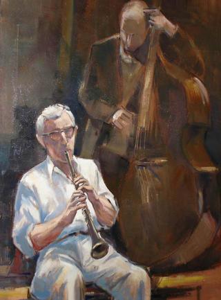 "Clarinet and Double Bass by Enrique López Suárez ""Elosu"""