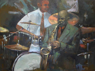 "Jazz - Sax and Drums by Enrique López Suárez ""Elosu"""