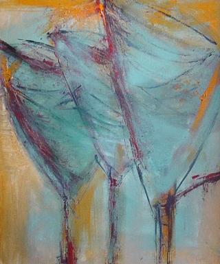 3 Blue Tulips by Pilar Bamba Gastardi