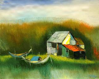 Two Boats by Dao Hai Phong
