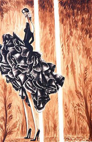 Dancer in Black by Carlos Andino