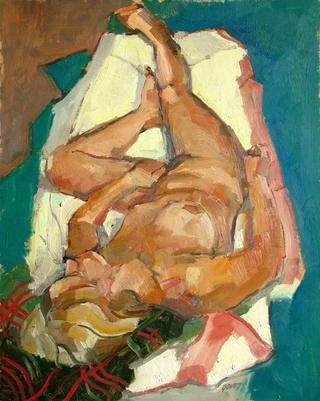 Female with Red Corner by John Govett
