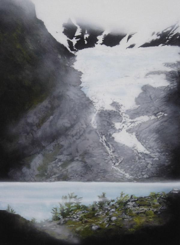 Huemul Glacier by Paula Franco