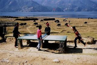 High Altitude Table Tennis, Nepal by Jamie Ball