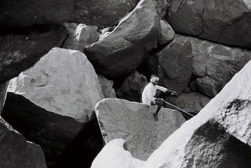 Fisherman, Hempi, India by Jamie Ball