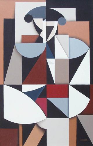 Cubist Bull Fighter by RAFA CHEVIRA