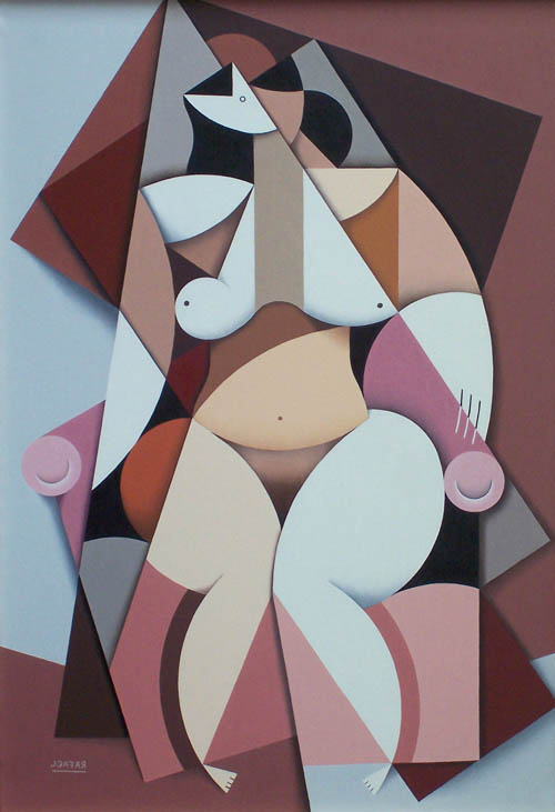 Woman on Pink Chair by RAFA CHEVIRA