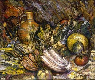 Still Life with Yellow Melon by Alejandro Hermoso