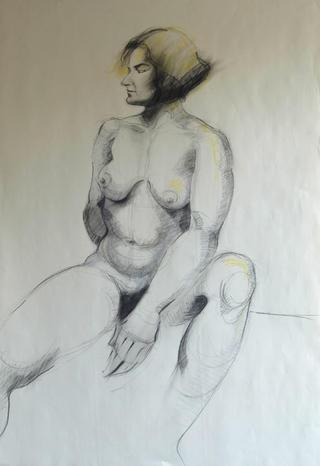 Seated Woman by Marta González Martín