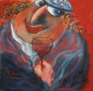 Shabbat Wine 4 by Malka Tsentsiper