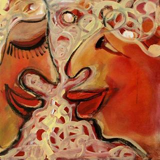 Red Masks 29 by Malka Tsentsiper