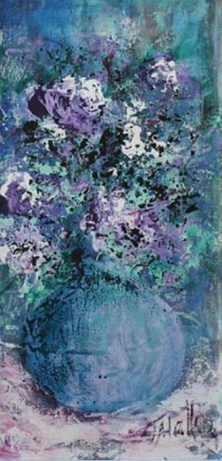Blue Flowers by Malka Tsentsiper