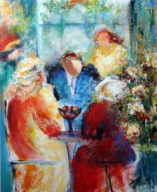 Small Talk in Café by Malka Tsentsiper