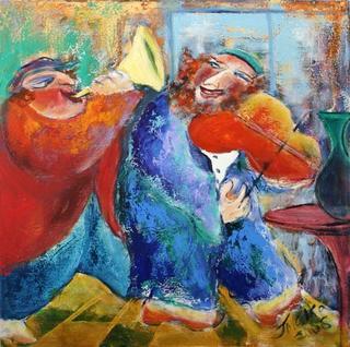 Musicians in Cafe by Malka Tsentsiper