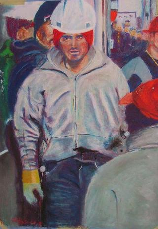 Worker in New York by Patxi Fernandez Navarro