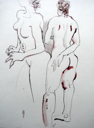2 Nudes Turning by Alex Mackenzie