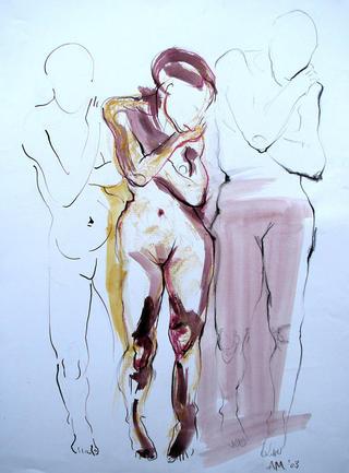 Nudes as Three by Alex Mackenzie