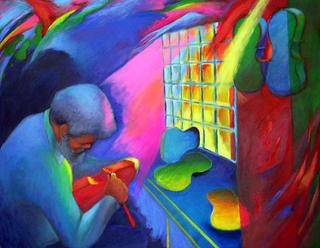Fiddler by Shulamit Halfon