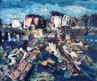 Pier at Night by MUZ-MARTINEZ