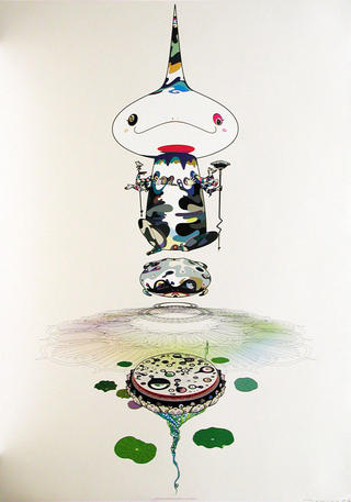 Reversed Double Helix by Takashi Murakami