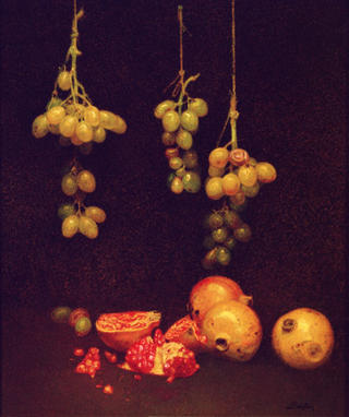 Still Life of Grapes by Félix Beristain