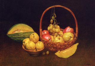 Basket with Fruits by Félix Beristain
