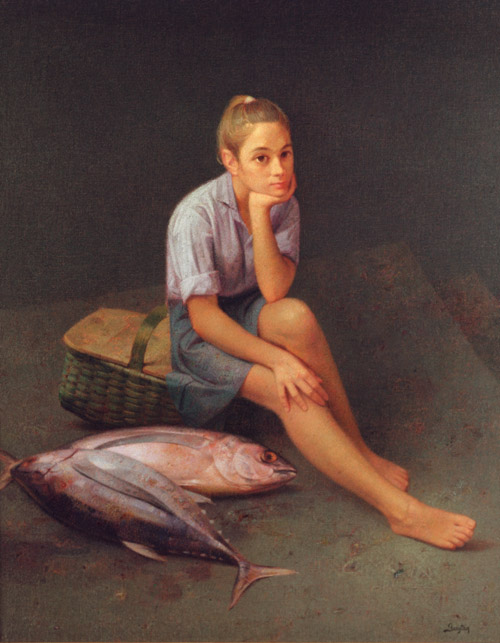 Girl Seated with Tuna by Félix Beristain